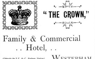1903 advertisement for The Crown Hotel opposite the railway station