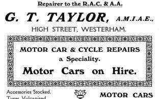 1914 advertisement G. T. Taylor High Street Garage