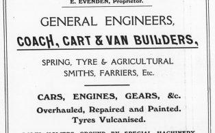 1914 advertisement West Kent Works (E. Evenden)