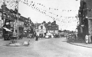 Market Square decorations KGVI coronation 1937
