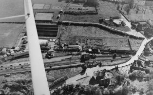 Aerial shot of the Railway and Buffer Depot