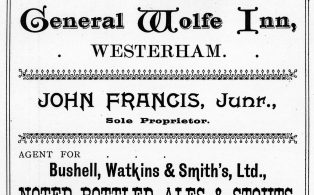 1903 advertisement for the General Wolfe Inn