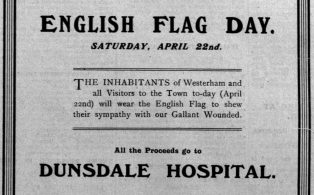 Wartime English Flag Day 1916