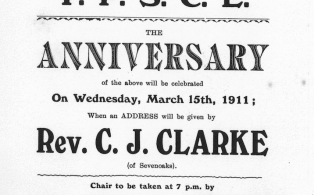 1911 Young Peoples Society Christian Endeavor first anniversary