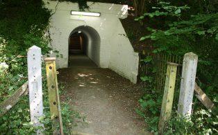 WVR Dunton Green Subway under trackbed 1