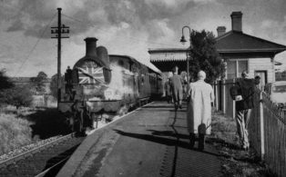 Flyer farewell journey at Brasted