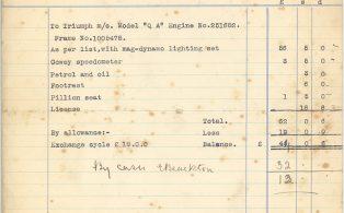 Invoice E. Blackton, Wolfe Garage 160727