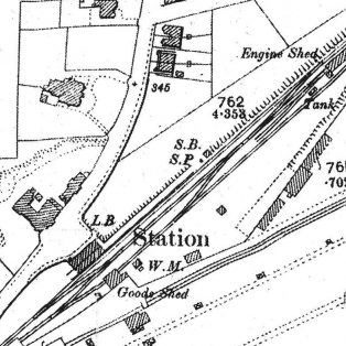 Westerham Station Forecourt road layout still as it was when the station was there