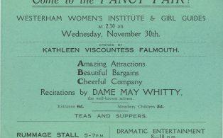 W.I. 1936 Fancy Fair poster