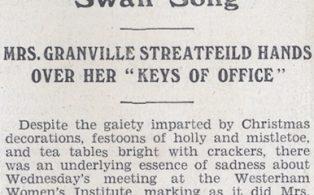W.I. 1934 News scrapbook - Lucy Streatfeild retires