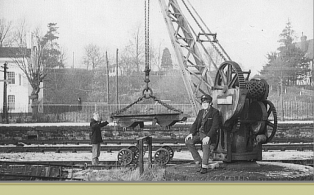 Goods Yard Crane in use at Westerham