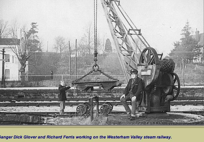 Westerham Goods Yard Crane in use