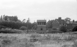 WVR Westerham station site after closure 4 - the signal box