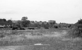 WVR Westerham station site after closure 5 - the water tank