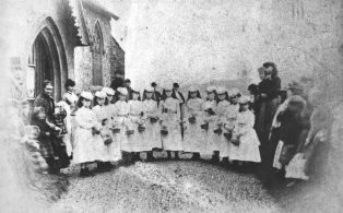 Warde O'Brien wedding 1879, the Bridesmaids