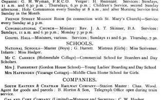 Hookers Almanack Directory 1903  1