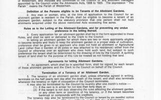Allotment Rules, Westerham Parish Council, page 1