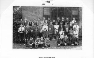 Hosey School boys 1922