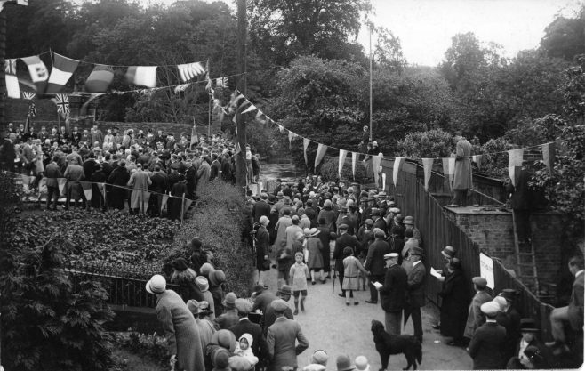 crowd at the opening of the Legion
