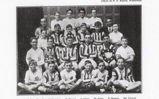 Hosey School athletic team with named members