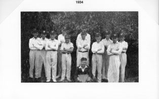 Hosey School cricket team 1934