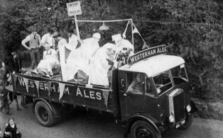 1937 Gala Float by Black Eagle Brewery
