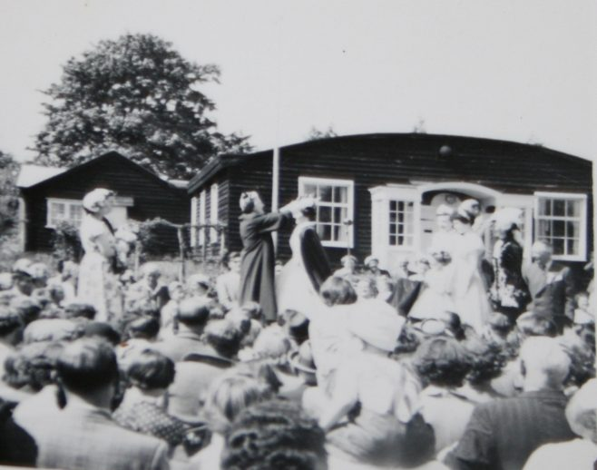 Carnival crowd at the WI hall