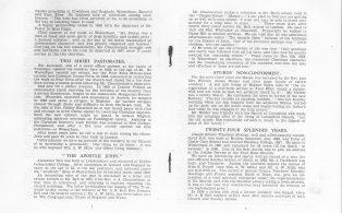 Chapel, Fullers Hill, Centenary Booklet