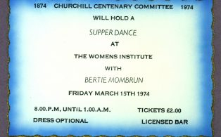 Churchill Centenary Supper Dance