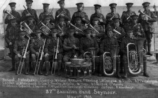 37th Battalion Band Seymour, Victoria, 1916