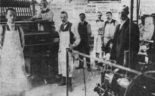 1900s Charles Hooker and staff in the basement print room
