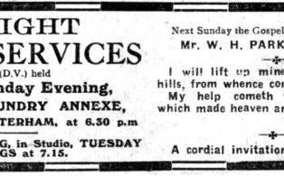 Gospel Hall Advert