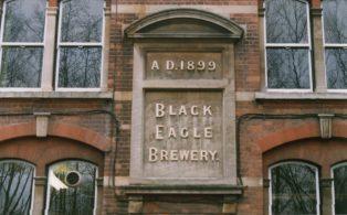 Black Eagle construction plaque