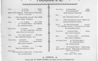Brasted Concert programme content