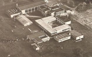 Aerial view of Churchill Secondary School