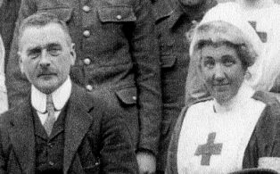 Dunsdale Red Cross Hospital, Dr. Ronaldson Russell and Miss Lucy M. Watney in close-up