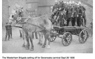Fire Brigade away to visit Sevenoaks Carnival 1906
