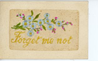 Souvenir Silk Woven Card France