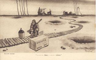 Bruce Bairnsfather Cartoon Card