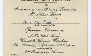 Senior Youth Club opening Invite