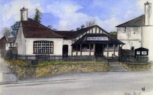 St Marys Hall watercolour by local artist Gwen Smith