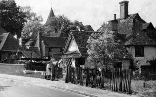 Charles Aubrey Botley's nursery shop at the bottom of Vicarage Hill