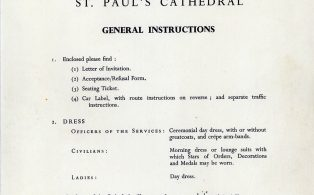 General instruictions for the day - Churchill Funeral