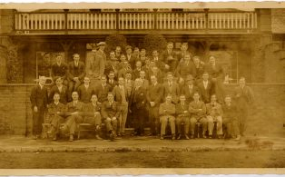Group of  Black Eagle staff in Ramsgate 1920s