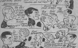Mens Club members cartoon by 'Splash'