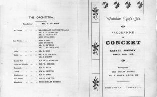 Mens Club Concert programme 1913 . 1 - cover