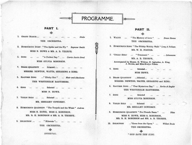Mens Club Concert Programme