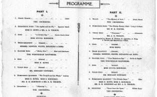Mens Club Concert programme 1913 . 2 - content