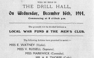 Mens Club Concert programme 1914 - poster