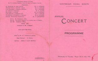 HOBA Concert programme 1 - cover